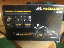 """McClloch CS380 Gas Chain Saw.  16""""- great for trimming and Med logs cutting.   Used less than 2 ... in Ramstein, Germany"""