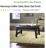 Brand new coffee table in Fort Knox, Kentucky