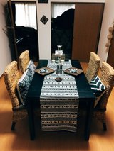 Asian dining table set and chairs in Okinawa, Japan