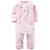 NWT Pink Kitty Romper 6M in Ramstein, Germany