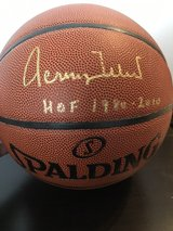 Autographed Jerry West basketball. in Ramstein, Germany