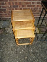 Nest of 3 Bamboo Tables REDUCED in Lakenheath, UK