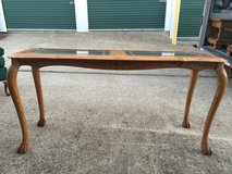 Solid Oak Clawfoot Sofa Table in Fort Campbell, Kentucky