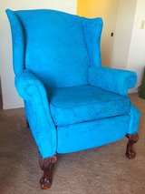 Turquoise Blue Wing Back Chair in Camp Pendleton, California