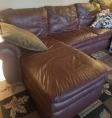 Lazyboy sectional leather couch w/full sleeper in Bolling AFB, DC