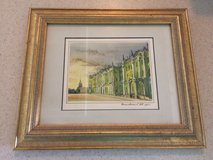 Framed signed watercolor art in 29 Palms, California
