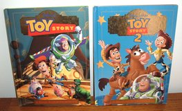Lot of 2 Disney Pixar Toy Story & Toy Story 2  A Read-Aloud Hard Cover Story Book Set in Morris, Illinois
