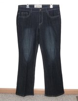 Crafted Industrial Cotton Boot Cut Jeans Faux Suede Studded Pockets Womens 14 in Chicago, Illinois
