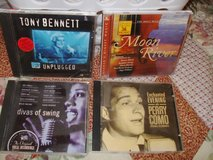 CD COLLECTION TONY BENNETT/MOON RIVER/DIVAS OF SWING/PERRY COMO/4 cd's in Sacramento, California