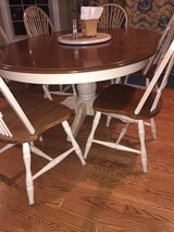 Canadel Solid Birch Kitchen Dining Table and 6 Chairs  (with leaf) and lazy susan in Lockport, Illinois