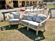 2pc Rattan Love Seat & Chair Set (1594-2671) in Camp Lejeune, North Carolina