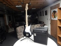 Fender Squire Base Guitar and Ampeg Amp 20 W $175.00 in Morris, Illinois