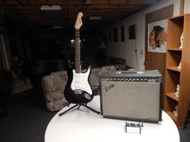 Fender Squire Guitar & Fender Stage 100 Amp With Pedal $350.00 in Morris, Illinois