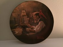 """Norman Rockwell collector plate """"The Ship Builder"""" 1980 in Chicago, Illinois"""
