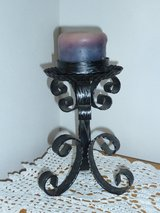 Wrought Iron Candle Holder w/  Candle in Okinawa, Japan