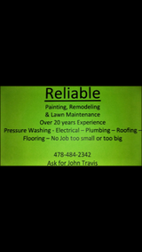 RELIABLE Painting, Remodeling & Lawn Maintenance in Warner Robins, Georgia