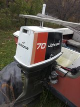 Johnson 70hp outboard motor and boat trailer in Beaufort, South Carolina