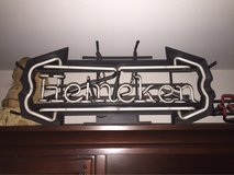 Neon beer light. Heineken in Stuttgart, GE