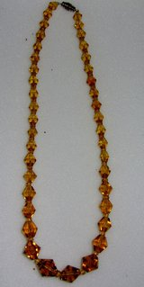 1940's Amber Crystal Necklace in Bartlett, Illinois