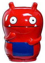 "New! Pretty Uglydoll ""Wage"" Red Ceramic Ugly Doll Coin Bank in Joliet, Illinois"
