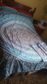 Bed Spread in Shades of Blue- comes with 3 pillow covers in Fort Campbell, Kentucky