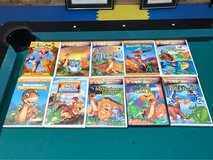 Set of 10 Land Before Time  Dinosaur DVDs in Bolingbrook, Illinois