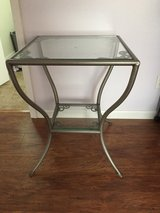 Glass top side table wrought iron style in Fort Leonard Wood, Missouri