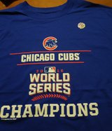 New Official Chicago Cubs 2016 World Series Champions Tee Shirt Men's Large in Joliet, Illinois