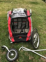 Xterra 2in1 double jogging stroller/bike trailer in Travis AFB, California