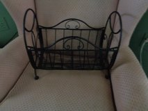 WROUGHT IRON MAGIZINE RACK LIKE NEW in Wilmington, North Carolina