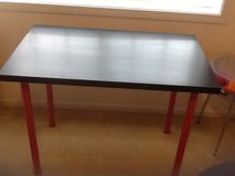 Ikea black table or desk in Glendale Heights, Illinois