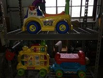 Kids ride on toys in Fort Knox, Kentucky