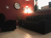 Very soft couch and recliner -Black in Fort Meade, Maryland