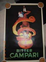 Bitter Campari Vintage Poster in Ramstein, Germany
