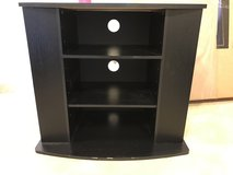 Black wooden tv stand in Okinawa, Japan