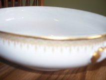 limoges 12 setting china perfect cond rare beautiful gold trimmed diamond pattern in Morris, Illinois