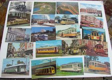 LARGE COLLECTION of 170 VINTAGE TROLLEY & TRAIN POSTCARDS - $2 in Cherry Point, North Carolina