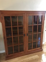 Tall Wood/Glass Double Display Cabinet in Travis AFB, California