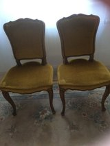 2 antique velvet chairs from France in Ramstein, Germany