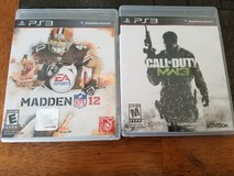 Ps3 madden 12 and call of duty in Lockport, Illinois