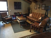 4 Piece Solid Oak Living Room Set in Ramstein, Germany