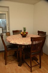 Very nice real wood Round table with 5 chairs in Ramstein, Germany