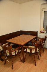 nice corner table with bench and chairs in Ramstein, Germany
