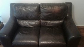 Leather reclining loveseat couch in Oceanside, California