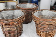 Small Plant Baskets (Plastic Lined) in Ramstein, Germany