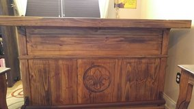 BAR solid wood, very heavy and sturdy with 2 Bar chairs and lots of storage in Leesville, Louisiana