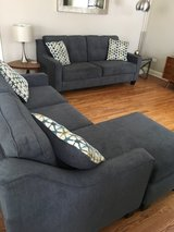 2 couch set & ottoman! (1 couch w/ chaise ) in Naperville, Illinois
