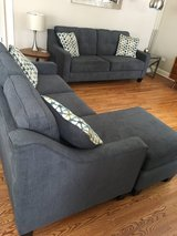 2 couch set & ottoman! (1 couch w chaise) in Bartlett, Illinois