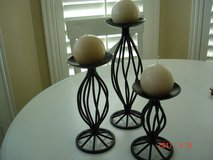 Candlesticks with candles in Kingwood, Texas