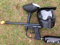 Paintball gun and mask in Fort Rucker, Alabama